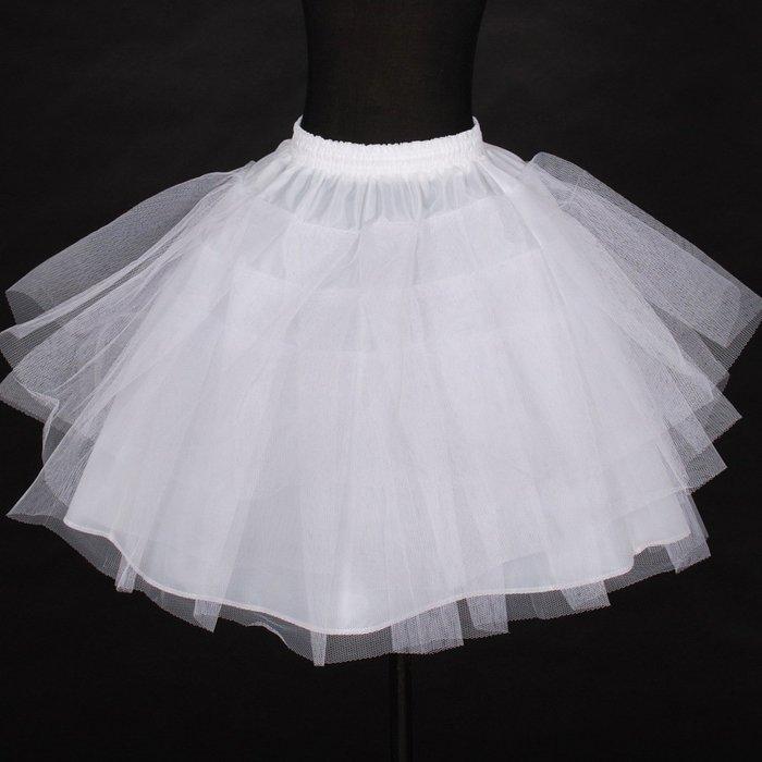 【衣Qbaby】兒童裙撐婚纱禮服公主裙内置短裙撐