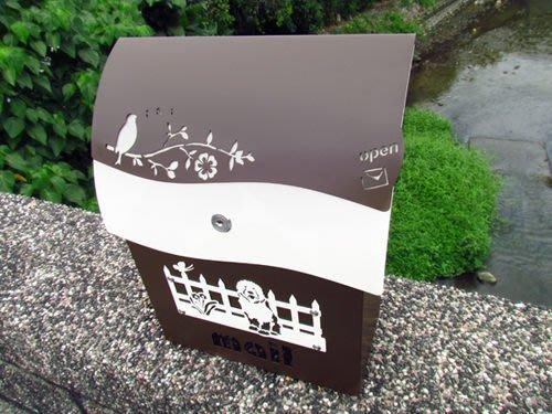 ☆成志金屬☆超漂亮不鏽鋼有鎖信箱,耐用與精緻的結合,抗生鏽不畏風雨-沉咖啡特別版
