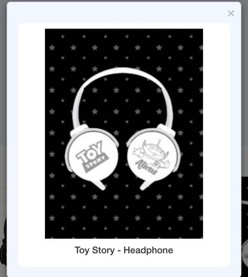 Japan 直送日本景品 Toy Story 4 Headphone 耳筒