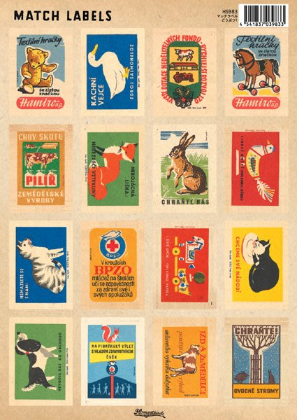 《散步生活雜貨-文具散步系列》日本進口  Homestead 復古 Match Labels 標籤貼紙-HS983動物