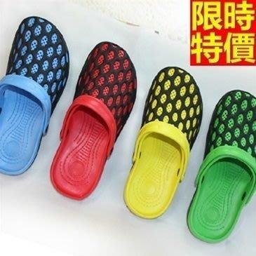 洞洞鞋 果凍鞋 男涼鞋-撞色柔軟防滑沙灘鞋子4色67u15[獨家進口][米蘭精品]