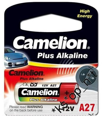 {MPower} 德國名廠 Camelion Plus Alkaline Battery 電池 ( A27, 27A, A27BP, G27A, GP27A, L828, MN27 ) - 原裝行貨