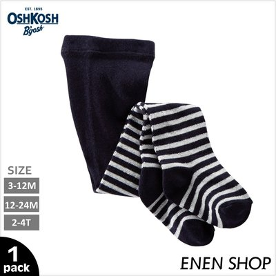 『Enen Shop』@OshKosh Bgosh 黑色閃閃條紋款保暖褲襪#97280|3M-12M-24M-2T-4T