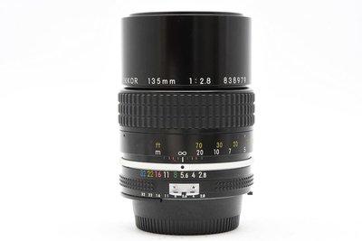尼康 Nikon AI NIKKOR 135mm F2.8 中距望遠鏡頭 人像鏡頭 良品 轉接 (三個月保固)