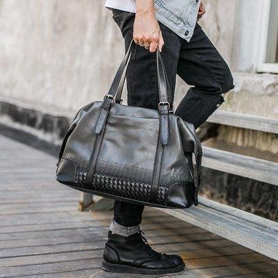 休閑韓版男包  戶外時尚編制手提包 商務潮流大容量時尚旅行包包 11NLD38