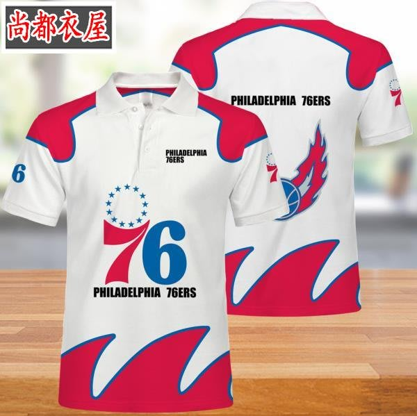 【尚都衣屋】 NBAPhiladelphia 76ers隊男女polo衫t恤夏季 philadephia