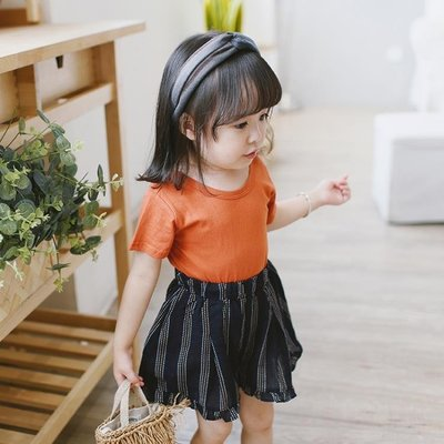 女童夏裝短袖打底衫兒童寶寶后背交叉T恤...