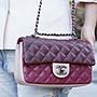 Chanel Flap Coco 包 小型羊皮銀鍊 24 cm 櫻...