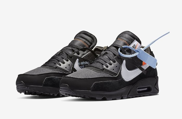 Nike Air Max 90 OFF-WHITE Black AA7293-001黑白THE TEN 10聯名麂皮網布