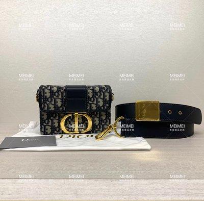 30年老店 現貨 Dior 30 MONTAIGNE BOX 迷你 藍 蒙田包 CD