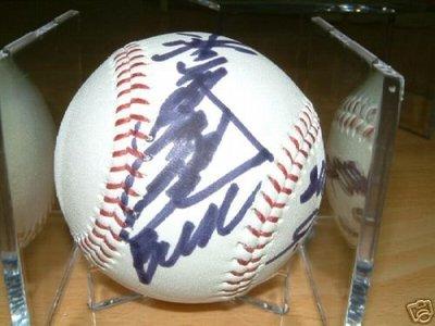 貳拾肆棒球--日本職棒名將池山隆寬親筆簽名球NPB實際比賽用球