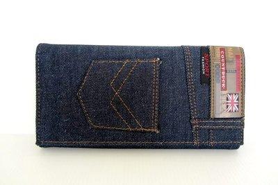 【YOGSBEAR】牛仔 B  男女適用 COUNTDUCK 錢包 卡包 手拿包 皮夾  錢夾 皮包 三折長夾 藍