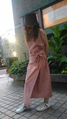 韓國氣質綁腰繩洋裝