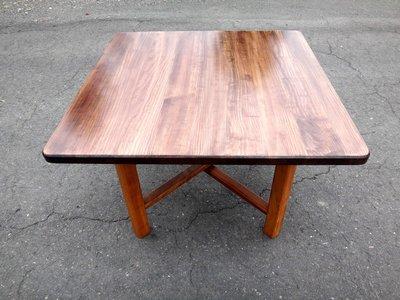 B022 {崙頂傳統原木家具行}~杉木實木合桌《桌面跟桌腳可分開》歡迎多組可議 有現貨免運費