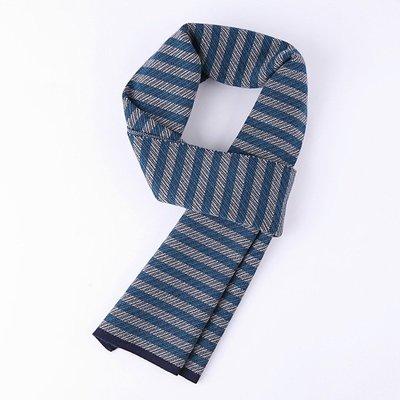 圍巾 針織披肩-羊毛商務條紋時尚男配件3色73wi72[獨家進口][米蘭精品]