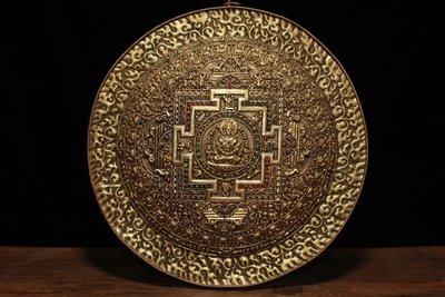 銅手工打造鑲嵌寶石鎏金壇城zzz