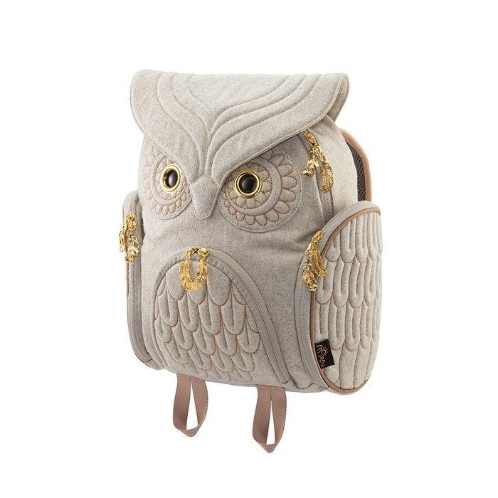羊毛貓頭鷹後背包(M) ,實品拍攝有店面,香港Morn Creations授權🌟最特別的禮物都在奧爾思🌟