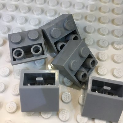 Lego 3660 light Gray Slope inverted 45 2x2 樂高積木 深灰色倒斜磚 $1/pcs