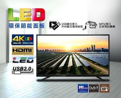 【電視拍賣】全新 55吋LED電視 4K低藍光 無亮點 友達 A+面板 LEDTV 液晶電視 送壁架或HDMI線