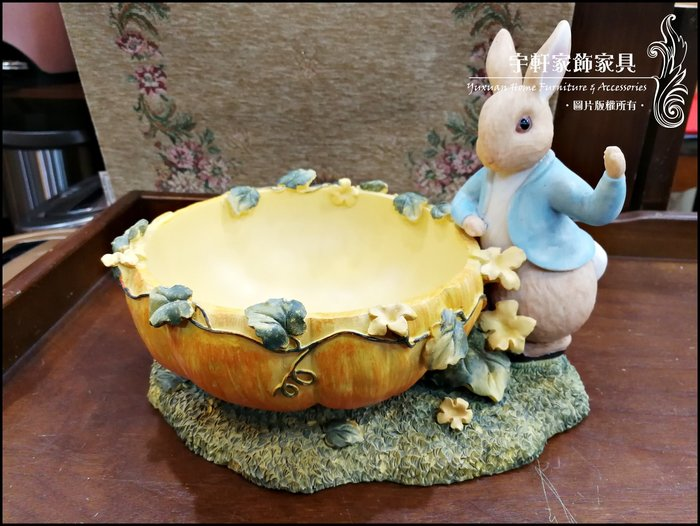 彼得兔peter rabbit南瓜小水果盤糖果盤波麗娃娃前台收銀台吸睛民宿拍照開店送禮收藏居家擺飾 ♖花蓮宇軒家飾家具♖