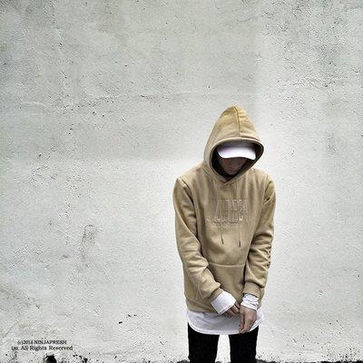 Cover Taiwan 官方直營 NINJA FRESH GANG 連帽Tee 帽T 杏色 刺繡 高端 NFG(預購)