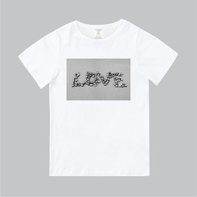 T365 MIT 親子裝 T恤 情侶裝 標語 話題 美式風格 slogan LOVE 咖啡豆 coffee bean