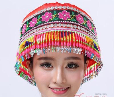 艾蜜莉戲劇服裝*少收民族表演帽/原住民頭飾$390元