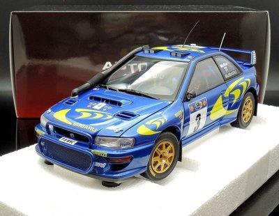 【M.A.S.H】原廠出清特價 Autoart 1/18 SUBARU IMPREZA WRC 1997 #3 冠軍