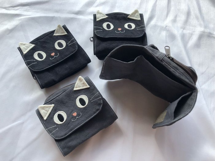日本卡拉貓~療癒喵拼布短夾