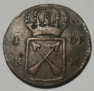 『紫雲軒』(各國外幣) 瑞典1719年1歐爾  銅幣   ORE—K.M Hhwb0161