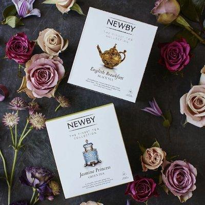 英國 Newby Teas 金字塔茶包盒 茉莉公主 英國早餐 南非博士茶 洋甘菊 金字塔茶包 15入