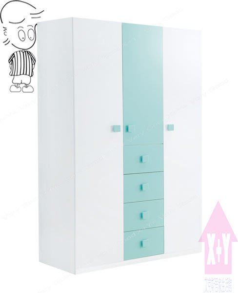 【X+Y時尚精品傢俱】現代衣櫥系列-天天晴朗 4尺開門衣櫃.衣櫥.實木噴漆手把.摩登家具