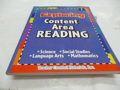 買滿500免運 / 崇倫《Exploring Content Area Reading F》ISBN:074399041