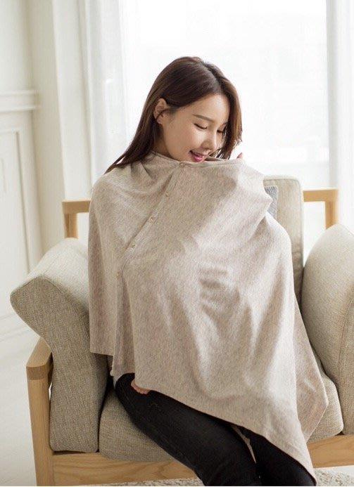 【愛媽媽孕婦裝】100%韓國直送一年四季實用多功能罩衣防走光親餵孕產婦產後外出月子實用哺乳披肩
