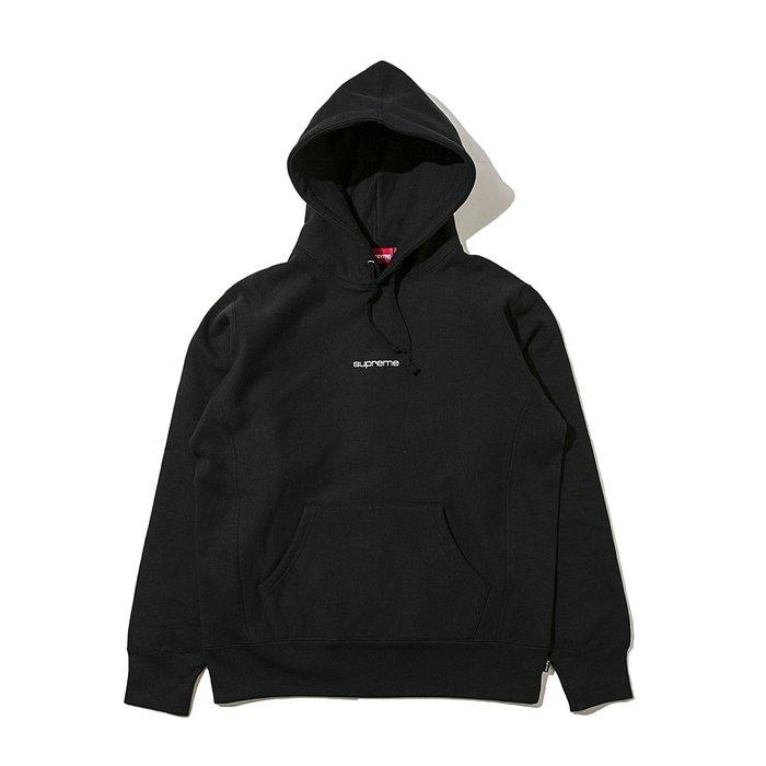 【美國鞋校】現貨 2017 Supreme Compact Logo Hooded Sweatshirt 刺繡字體帽T
