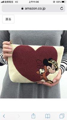 Verna&Co{現貨}日本進口迪士尼限定版刺繡紳士米奇化妝包收納包