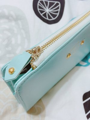 長夾 iconic 柔軟 天藍色 手機包 卡包 零錢包