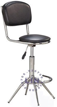 【品特優家具倉儲】545-13吧台椅雅士電鍍俏麗吧台椅