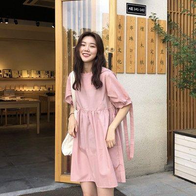 韓國寬鬆綁帶燈籠袖娃娃裙洋裝【D3529】☆kiyomi☆(樣式請於備註欄留言)