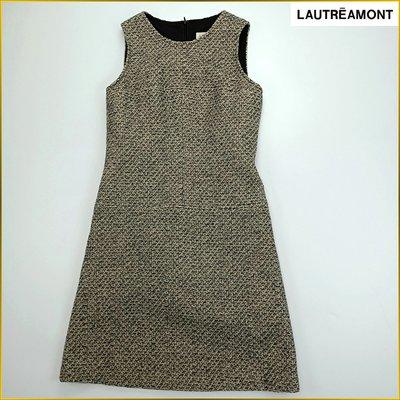 日本二手衣✈️LAUTREAMONT 日本製 毛料洋裝 連衣裙 羊毛混紡 無袖洋裝 連身裙 百貨女裝 M号 A3225B