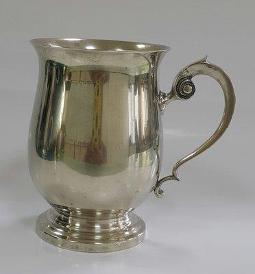 453高檔英國鍍銀茶杯Vintage Silverplate Ornate teamug Vintage