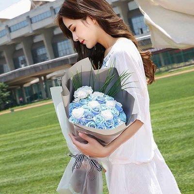 仿真香皂韓版唯美花束 創意浪漫防真玫瑰花瓣求婚表白婚禮婚慶