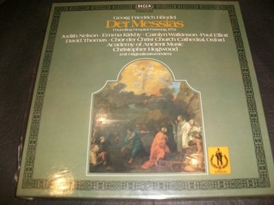LP黑膠唱片 - HANDEL DER MESSIAS HOGWOOD/3LPs,德國版