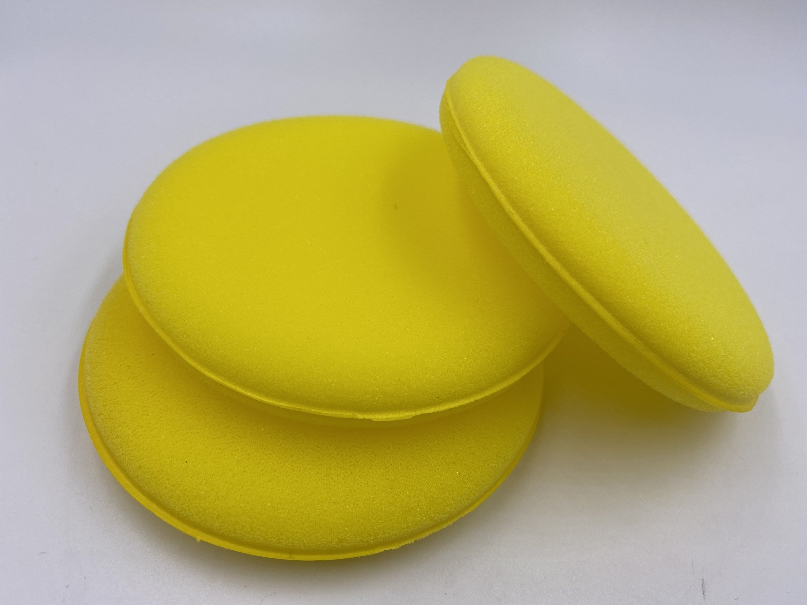車霸- 黃色銅鑼燒海棉 打蠟棉 上蠟專用 打蠟棉 上蠟 皮革乳海棉 海棉 銅鑼燒海棉