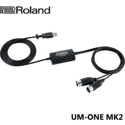 ☆唐尼樂器︵☆公司貨免運 Roland UM-ONE MK2 MIDI USB 錄音介面 錄音卡 連接線 傳輸線