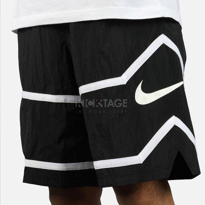 KS▸NIKE THROWBACK SHORT 黑色 黑白 大勾 籃球褲 球褲【AJ3899-010】