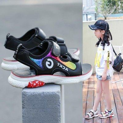 女童涼鞋夏季2019新款兒童涼鞋時尚中大童韓版寶寶小孩男童涼鞋子