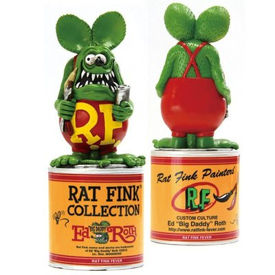 (I LOVE 樂多) RAT FINK Paint Can Statue RF 老鼠芬克 公仔