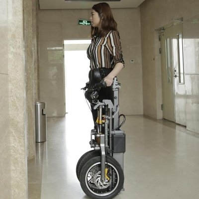 電動車 簡行 倒三輪電動代步車 摺疊式接送小孩便捷可拉行親子電瓶自行車免運BLBH
