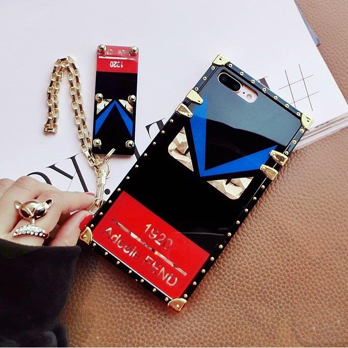 iPhone XS Max XR X 8 7 6S 6 plus 手機殼 歐美潮牌 小怪獸 電鍍鏡面 小惡魔 全包防摔